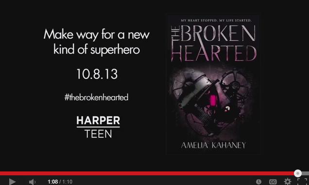 THE BROKENHEARTED by Amelia Kahaney    Book Trailer   YouTube