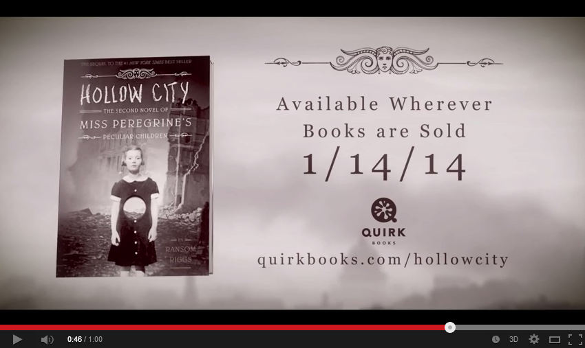 Hollow City  The Second Novel of Miss Peregrine s Peculiar Children  Hugh    YouTube