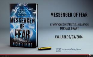 MESSENGER OF FEAR by Michael Grant Official Book Trailer | wearewordnerds.com
